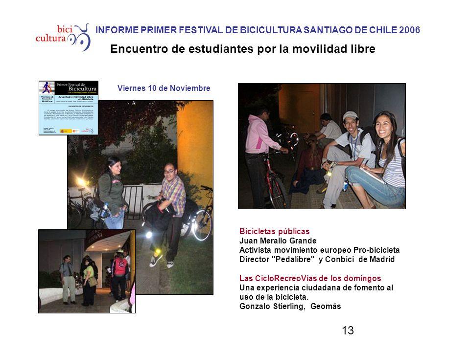 13 Viernes 10 de Noviembre Bicicletas públicas Juan Merallo Grande Activista movimiento europeo Pro-bicicleta Director