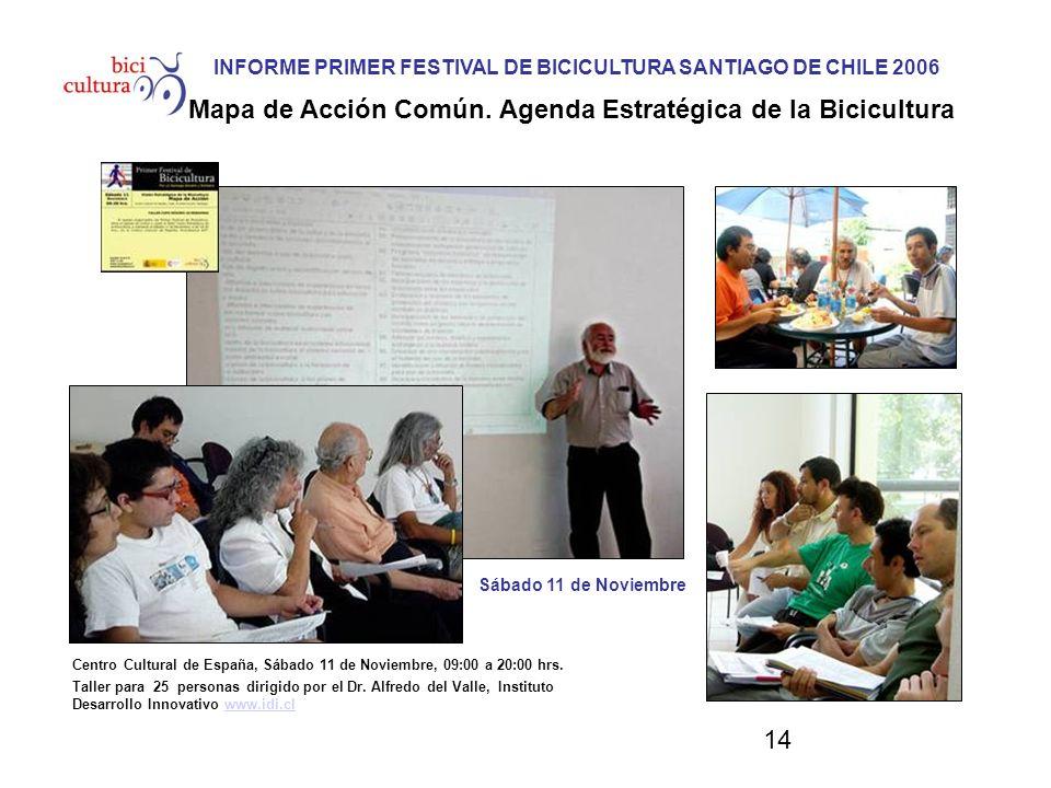 14 Centro Cultural de España, Sábado 11 de Noviembre, 09:00 a 20:00 hrs. Taller para 25 personas dirigido por el Dr. Alfredo del Valle, Instituto Desa