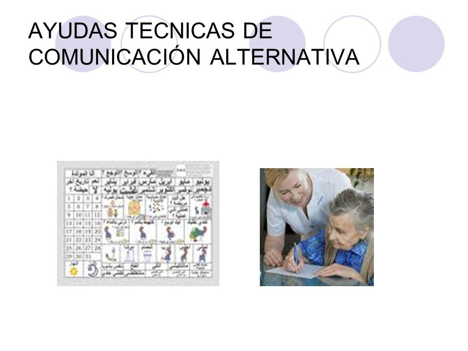 AYUDAS TECNICAS DE COMUNICACIÓN ALTERNATIVA