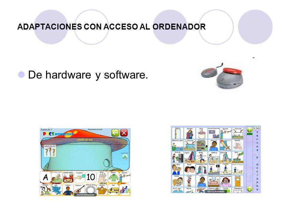 ADAPTACIONES CON ACCESO AL ORDENADOR De hardware y software.