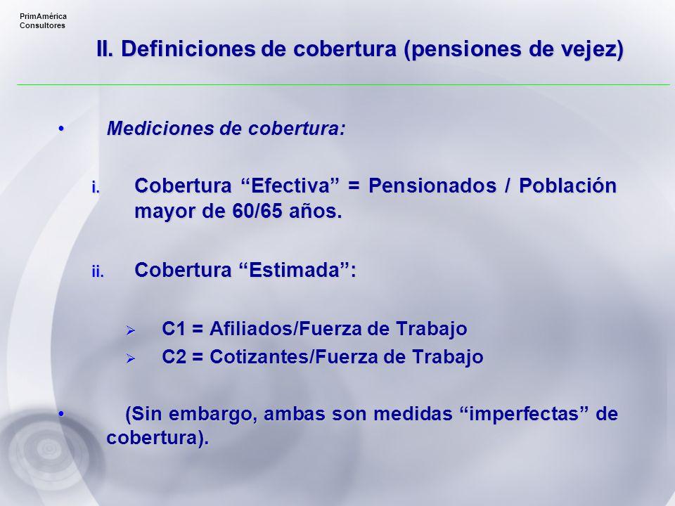 PrimAmérica Consultores Mediciones de cobertura:Mediciones de cobertura: i.