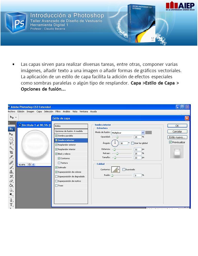 Las capas sirven para realizar diversas tareas, entre otras, componer varias imágenes, añadir texto a una imagen o añadir formas de gráficos vectorial