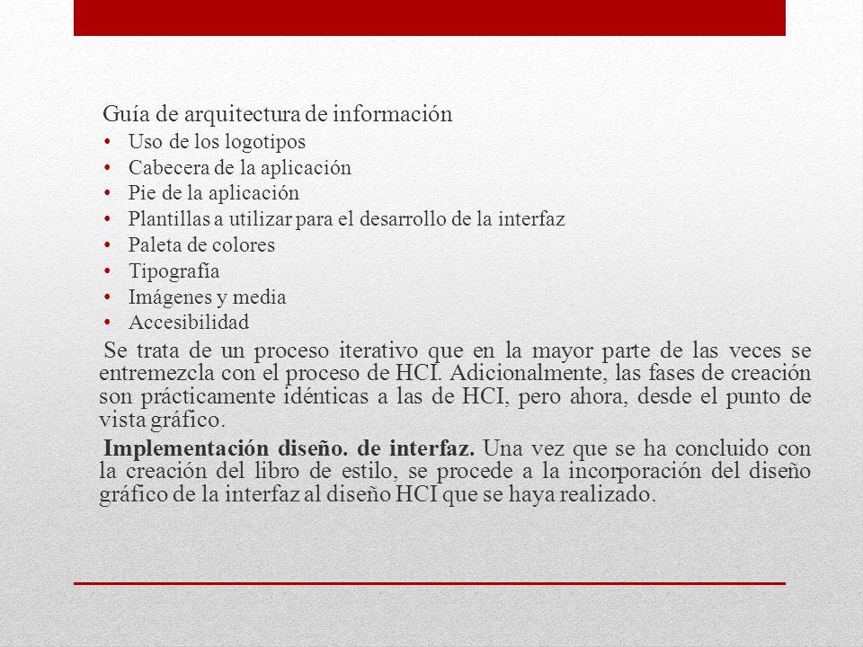 Guía de arquitectura de información Uso de los logotipos Cabecera de la aplicación Pie de la aplicación Plantillas a utilizar para el desarrollo de la