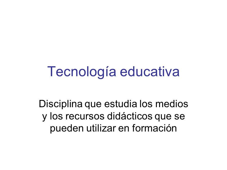 TECNOLOGÍA EDUCATIVA Optimizar el proceso de enseñanza- aprendizaje Educa para vivir en la iconosfera Incorpora medios al proceso De una manera racional En función de las necesidades De las exigencias de cada medio De sus posibilidades didácticas