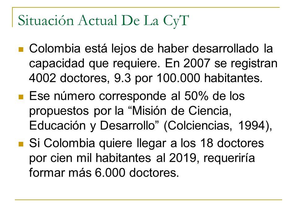 Colombia está lejos de haber desarrollado la capacidad que requiere.