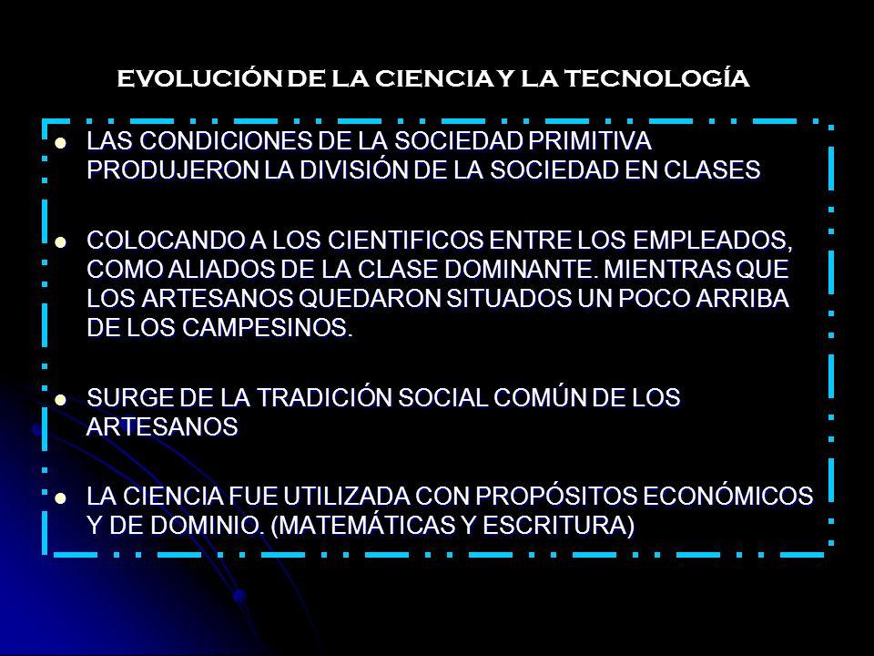 EL DESARROLLO DE LA CIENCIA CIVILIZACIÓN GRIEGA DESARROLLO EN TORNO AL CONOCIMIENTO VERIFICABLE Y UTILIZABLE: ASTROLOGÍA Y ALQUIMIA ASTRONOMÍA Y QUIMICA