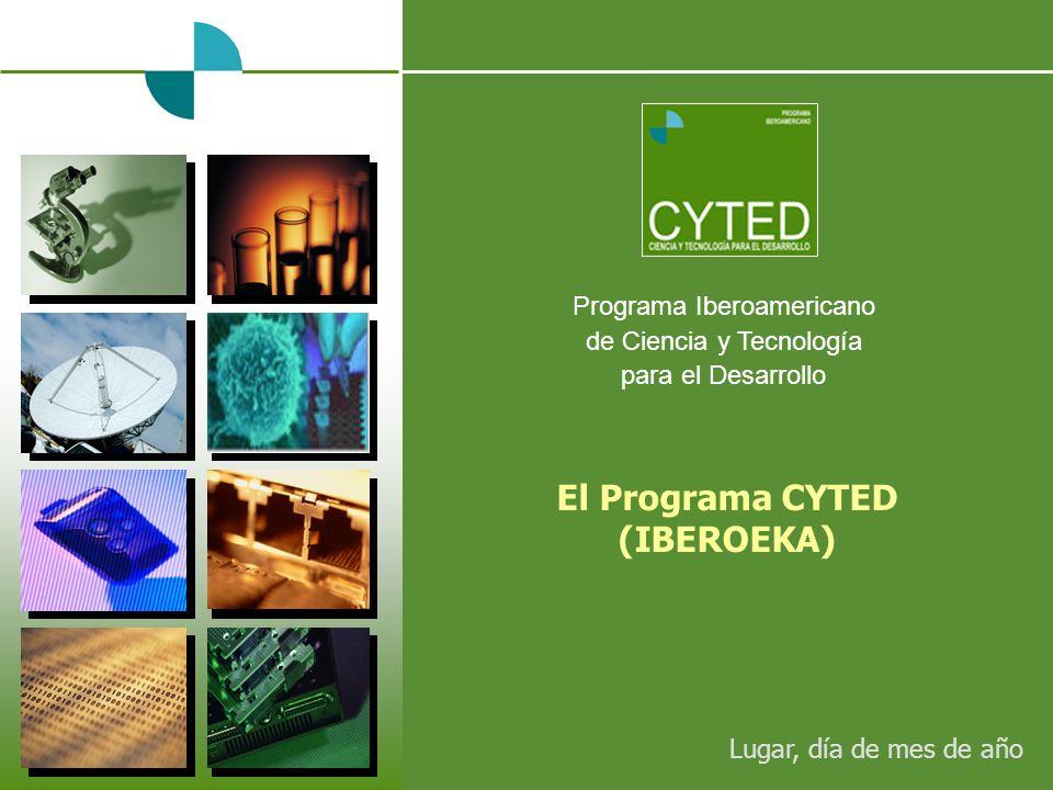 Programa Iberoamericano de Ciencia y Tecnología para el Desarrollo El Programa CYTED (IBEROEKA) Lugar, día de mes de año
