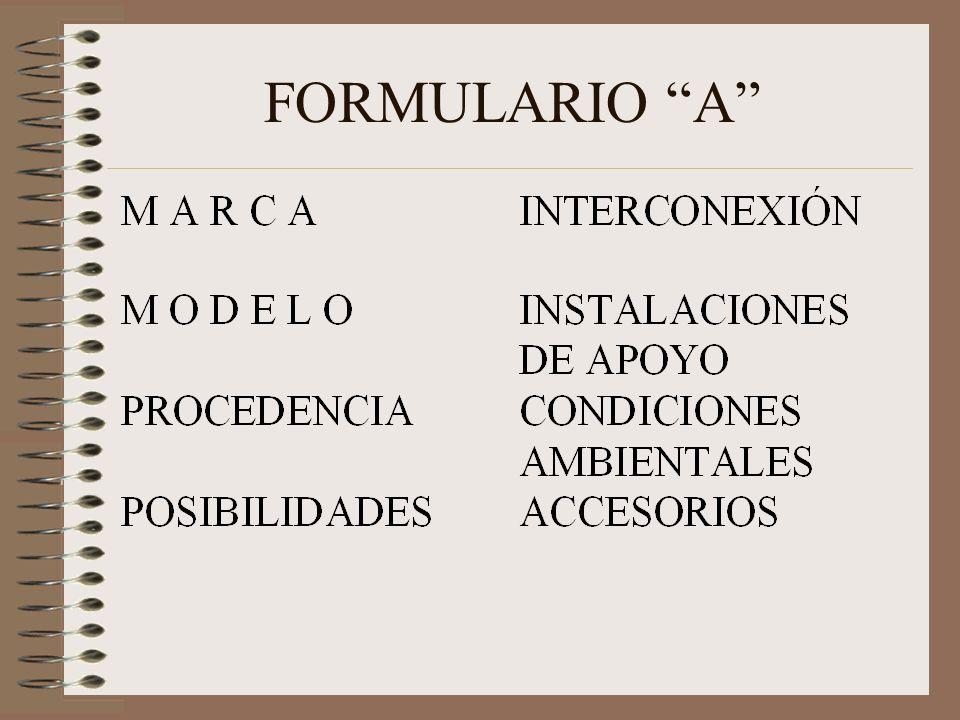 FORMULARIO A