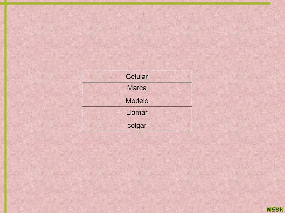 MEBH Celular Marca Modelo Llamar colgar
