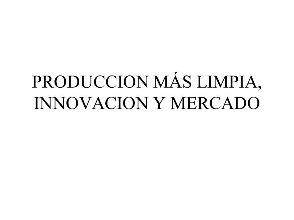 PRODUCCION MÁS LIMPIA, INNOVACION Y MERCADO