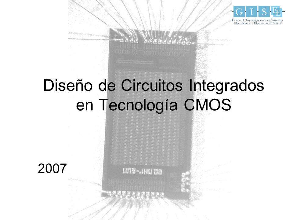 MOSIS (www.mosis.org) Precios de descuento para miembros de LACIS (bajo volumen): –2.2mm x 2.2mm (AMI 1.5µm) 980US$/4 = 246US$ 5 unidades –1.5mm x 1.5mm (AMI 0.5µm) 5000US$/4 = 1250US$ 5 unidades Mayores volúmenes implican menores costos Procesos disponibles –AMI 1.5, 0.5 (Educacional) –TSMC, IBM 0.35, 0.25, 0.18, 0.13 (Research) Acceso a fabricación
