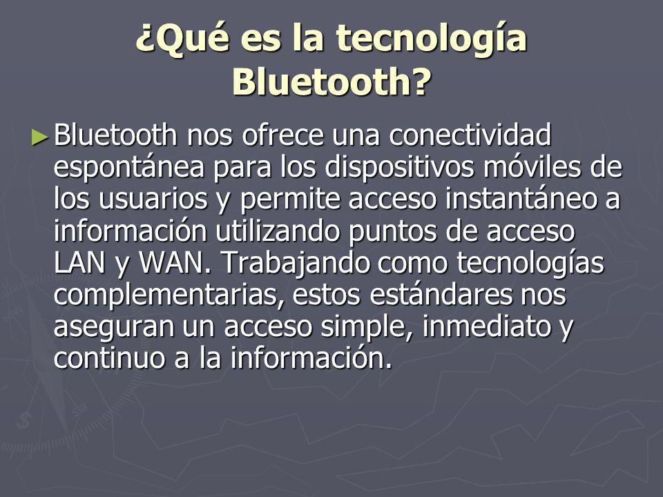 ¿Qué es la tecnología Bluetooth.
