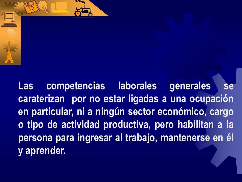Las competencias tecnológicas Se incluyen en el marco de las competencias laborales generales. Y son las capacidades para transformar e innovar elemen