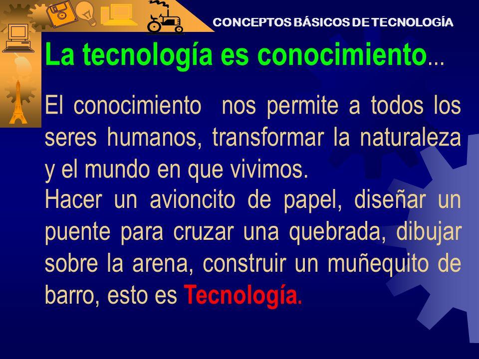 La tecnología es conocimiento...