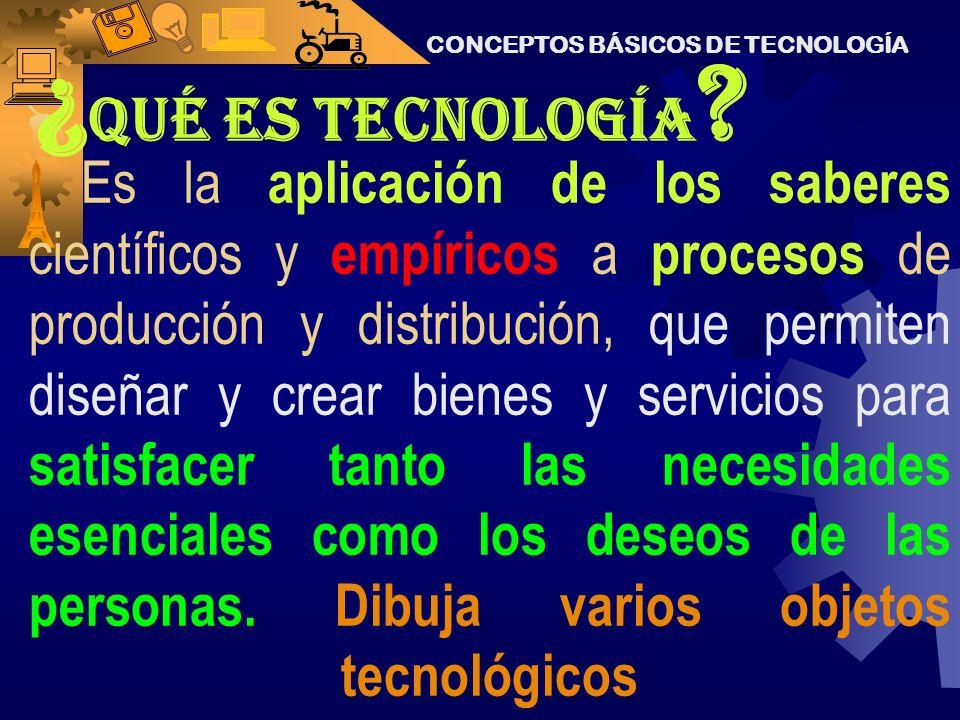 La tecnología es conocimiento... El conocimiento nos permite a todos los seres humanos, transformar la naturaleza y el mundo en que vivimos. Hacer un