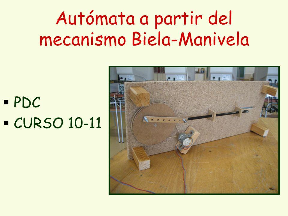 Autómata a partir del mecanismo Biela-Manivela PDC CURSO 10-11
