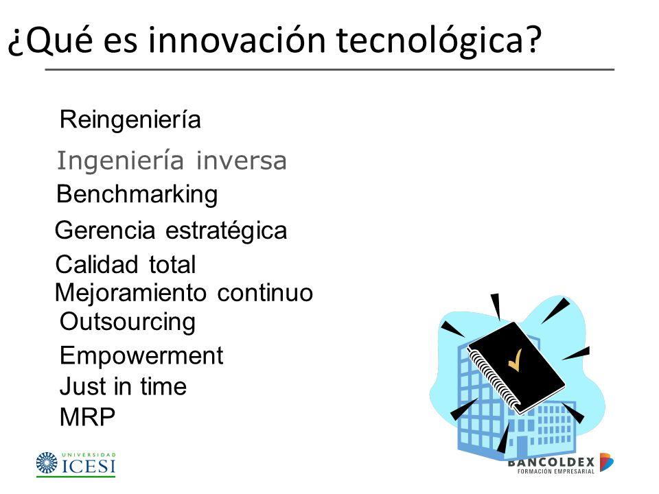 Ingeniería inversa ¿Qué es innovación tecnológica.