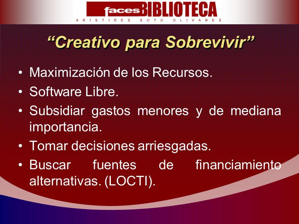 Creativo para Sobrevivir Maximización de los Recursos.