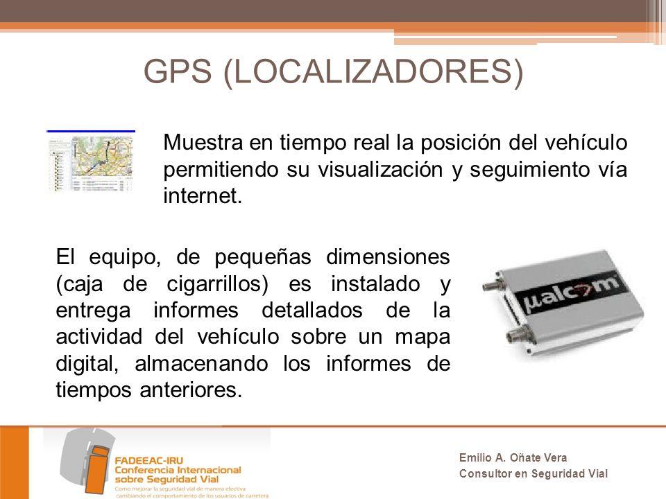 GPS (LOCALIZADORES) Muestra en tiempo real la posición del vehículo permitiendo su visualización y seguimiento vía internet.