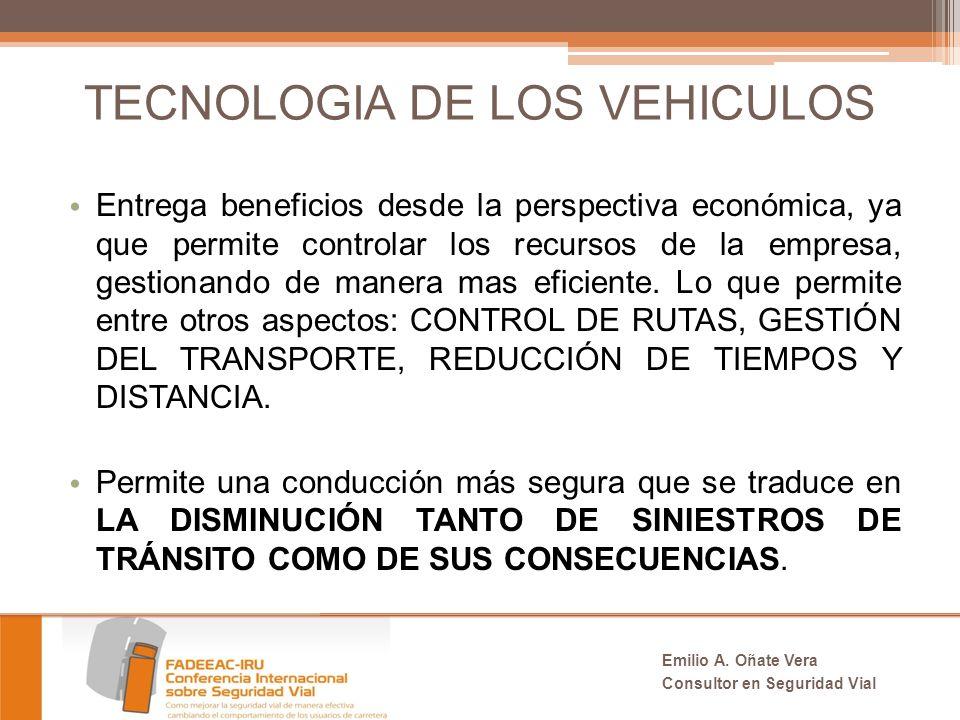 TECNOLOGIA DE LOS VEHICULOS Entrega beneficios desde la perspectiva económica, ya que permite controlar los recursos de la empresa, gestionando de manera mas eficiente.