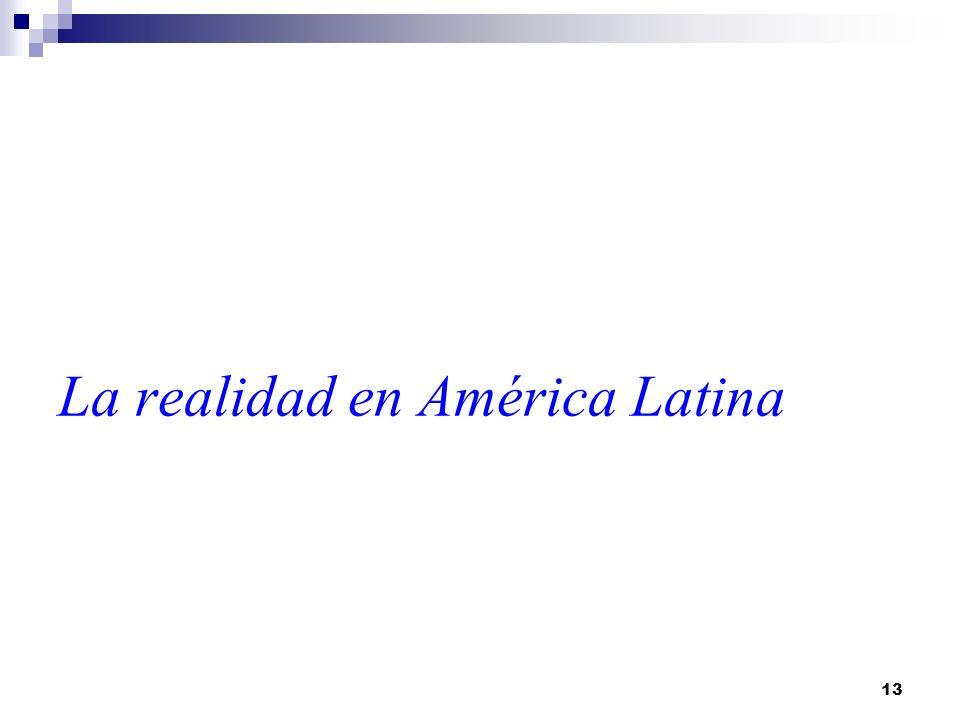 13 La realidad en América Latina