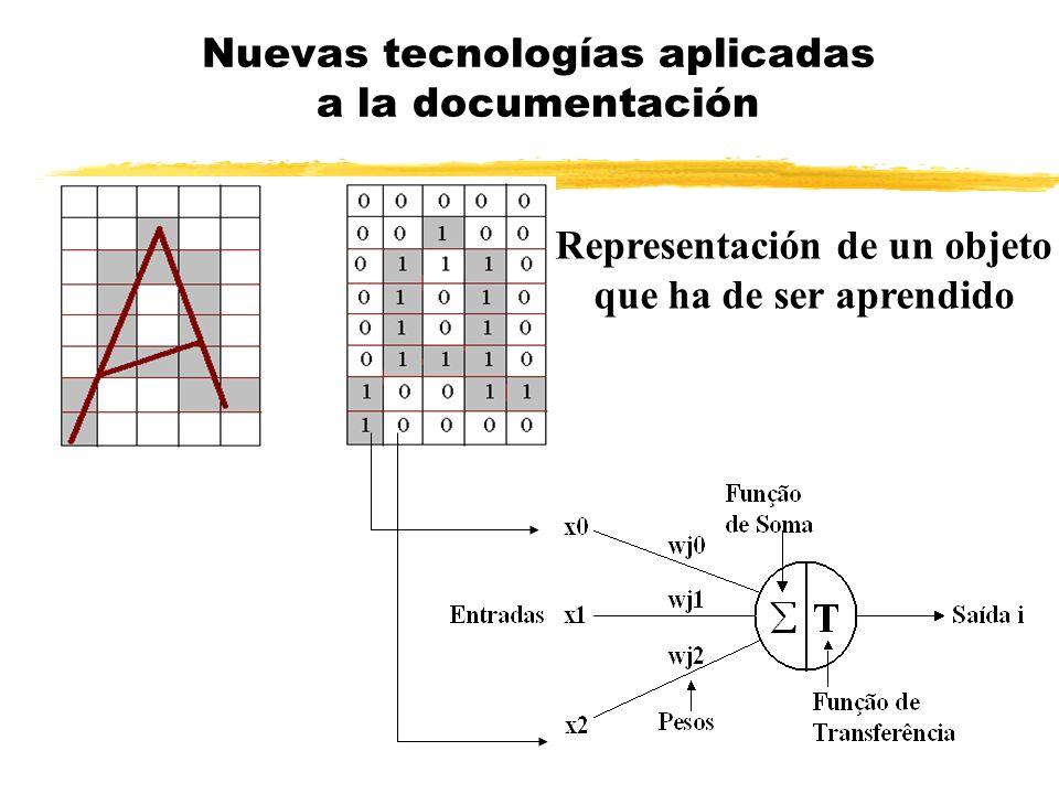 Um neurônio artificial Nuevas tecnologías aplicadas a la documentación Representación de un objeto que ha de ser aprendido