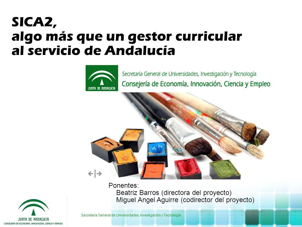 Secretaría General de Universidades, Investigación y Tecnología Ponentes: Beatriz Barros (directora del proyecto) Miguel Angel Aguirre (codirector del