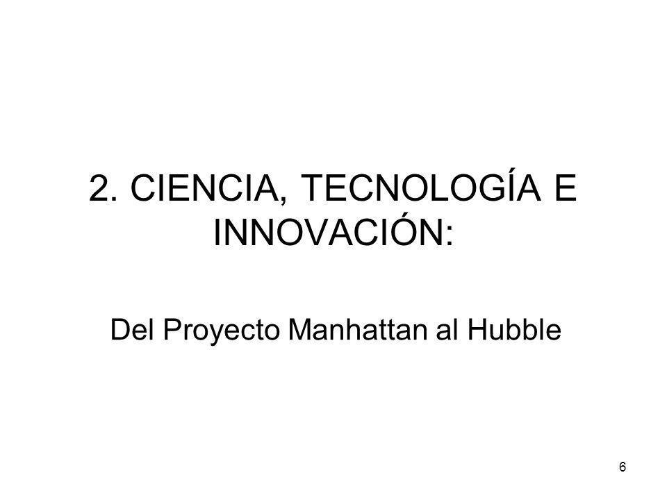 6 2. CIENCIA, TECNOLOGÍA E INNOVACIÓN: Del Proyecto Manhattan al Hubble
