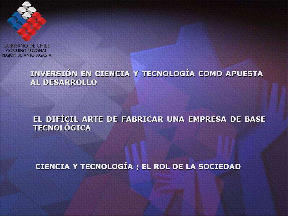 INVERSIÓN EN CIENCIA Y TECNOLOGÍA COMO APUESTA AL DESARROLLO