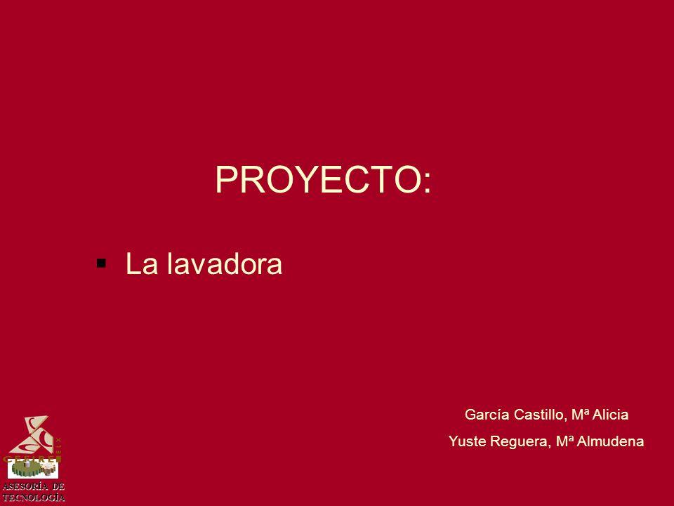 ASESORÍA DE TECNOLOGÍA PROYECTO: La lavadora García Castillo, Mª Alicia Yuste Reguera, Mª Almudena
