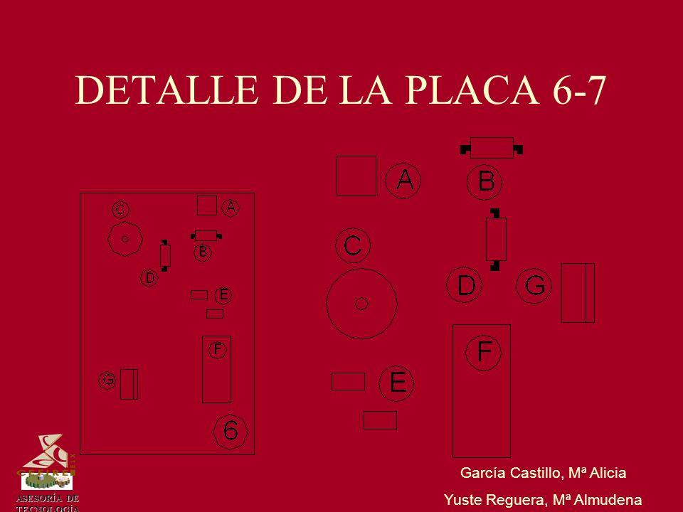 ASESORÍA DE TECNOLOGÍA DETALLE DE LA PLACA 6-7 García Castillo, Mª Alicia Yuste Reguera, Mª Almudena