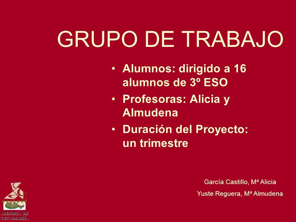 ASESORÍA DE TECNOLOGÍA García Castillo, Mª Alicia Yuste Reguera, Mª Almudena CIRCUITOS