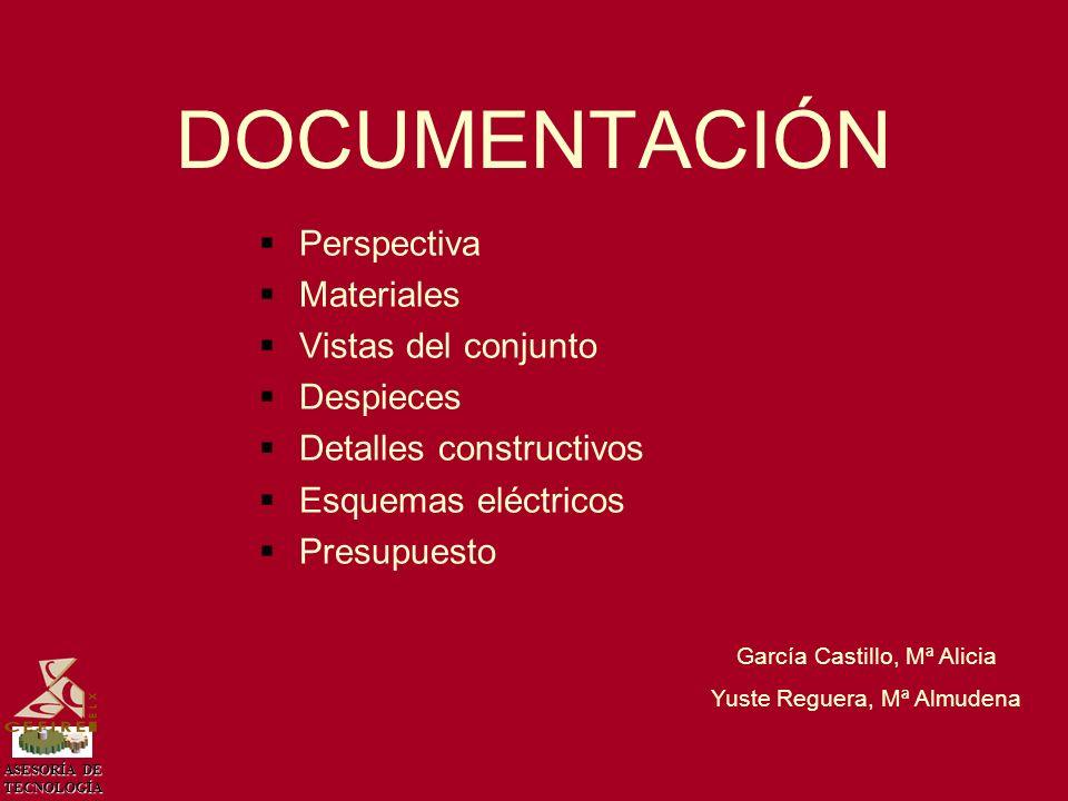 ASESORÍA DE TECNOLOGÍA PRESUPUESTOPRESUPUESTO García Castillo, Mª Alicia Yuste Reguera, Mª Almudena ElementosUnidadesPrecio/UnidadTotal LDR30,050,15 Placa de circuito fotosensible33,009,00 Resistencia de 2K2 (1/2 W)30,030,09 Transistores BD 15360,402,40 Relé de un contacto22,805,60 Relé de dos contactos12,80 Potenciómetro31,504,50 Diodo protector30,200,60 Regleta para CI de II30,601,80 Regleta para CI de III30,802,40 Motor reductora15,80 LED20,100,20 Escuadras20,501,00 Pilas 1,5 V80,302,40 Pilas 9 V11,50 Portapilas40,502,00 Contrachapado0,56,003,00 Base0,16,000,60 Varilla roscada0,151,000,15 Total material45,99