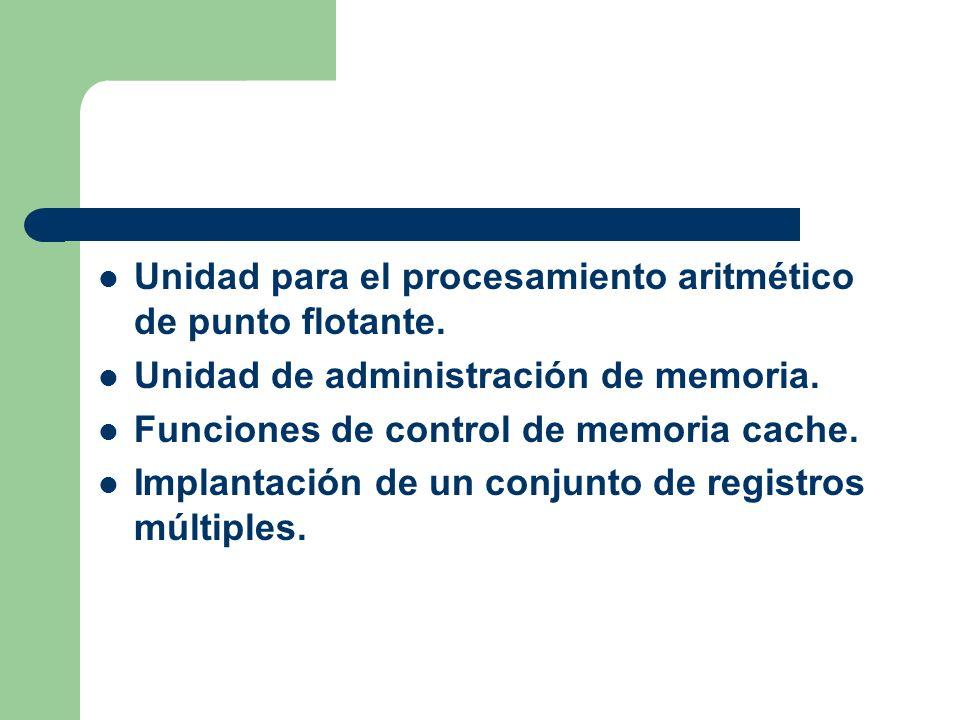 Unidad para el procesamiento aritmético de punto flotante.