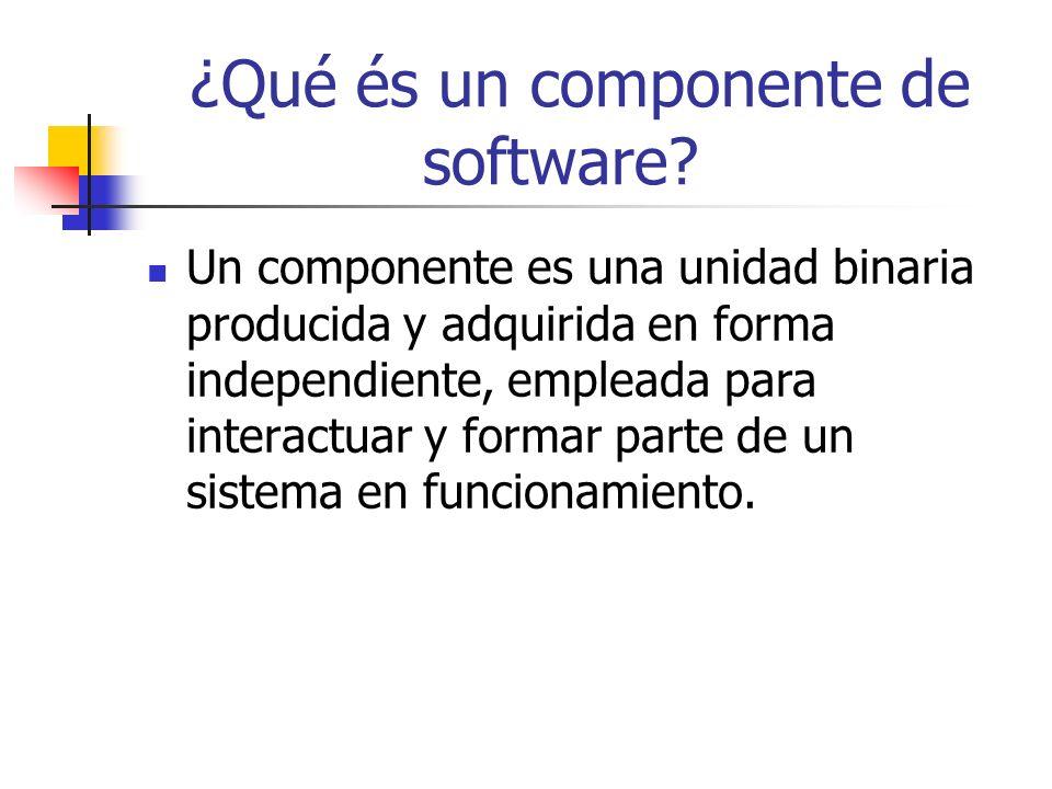 ¿Qué és un componente de software.