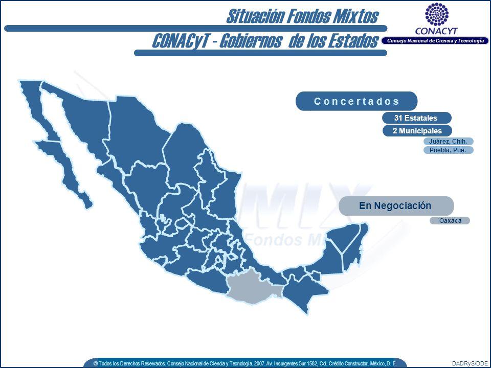 DADRyS/DDE © Todos los Derechos Reservados. Consejo Nacional de Ciencia y Tecnología. 2007. Av. Insurgentes Sur 1582, Col. Crédito Constructor. México