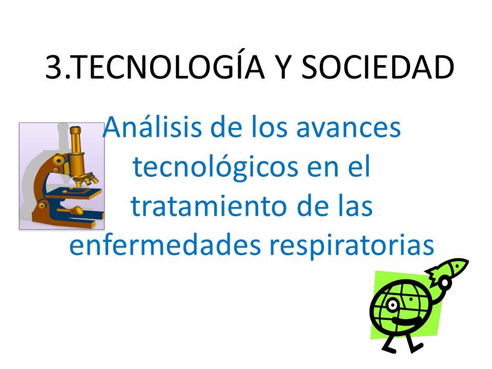 3.TECNOLOGÍA Y SOCIEDAD Análisis de los avances tecnológicos en el tratamiento de las enfermedades respiratorias