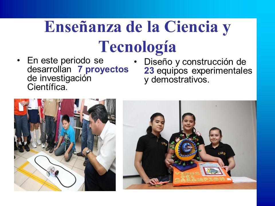 En este periodo se desarrollan 7 proyectos de investigación Científica. Diseño y construcción de 23 equipos experimentales y demostrativos.