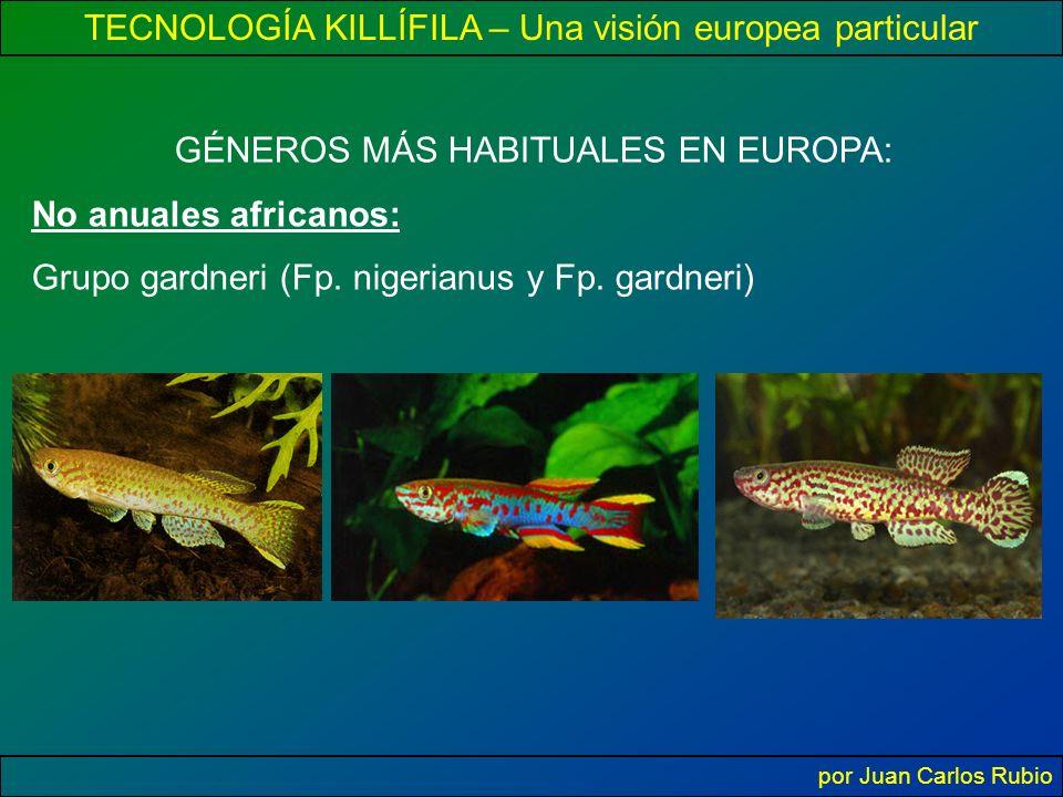 TECNOLOGÍA KILLÍFILA – Una visión europea particular por Juan Carlos Rubio GÉNEROS MÁS HABITUALES EN EUROPA: No anuales africanos: Grupo gardneri (Fp.
