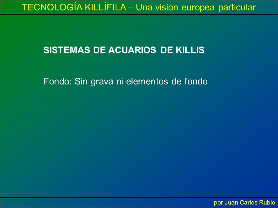 TECNOLOGÍA KILLÍFILA – Una visión europea particular por Juan Carlos Rubio SISTEMAS DE ACUARIOS DE KILLIS Fondo: Sin grava ni elementos de fondo