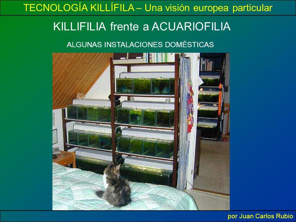 TECNOLOGÍA KILLÍFILA – Una visión europea particular por Juan Carlos Rubio KILLIFILIA frente a ACUARIOFILIA ALGUNAS INSTALACIONES DOMÉSTICAS
