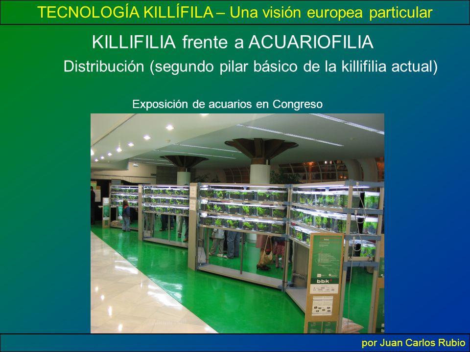 TECNOLOGÍA KILLÍFILA – Una visión europea particular por Juan Carlos Rubio KILLIFILIA frente a ACUARIOFILIA Distribución (segundo pilar básico de la killifilia actual) Exposición de acuarios en Congreso