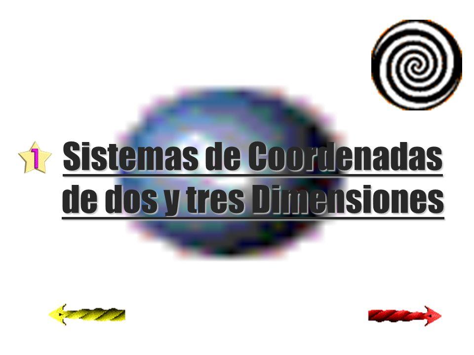 Sistemas de Coordenadas de dos y tres Dimensiones