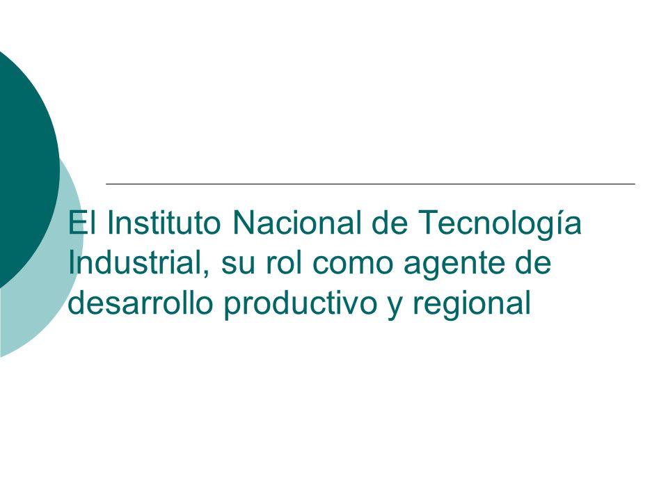El Instituto Nacional de Tecnología Industrial, su rol como agente de desarrollo productivo y regional