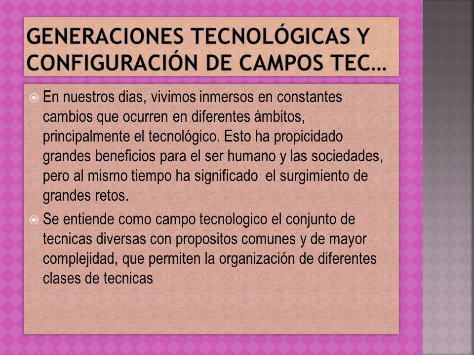 Otros cambios que han dado como resultado las generaciones tecnológicas son los referentes a las computadoras, como puede apreciar el siguiente cuadro.
