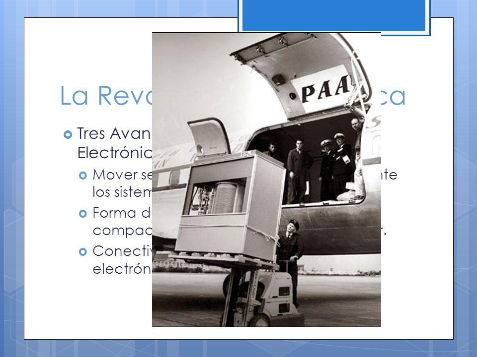 La Revolución Tecnológica Tres Avances en la Comunicación Electrónica: Mover señales de un lugar a otro mediante los sistemas de comunicación.