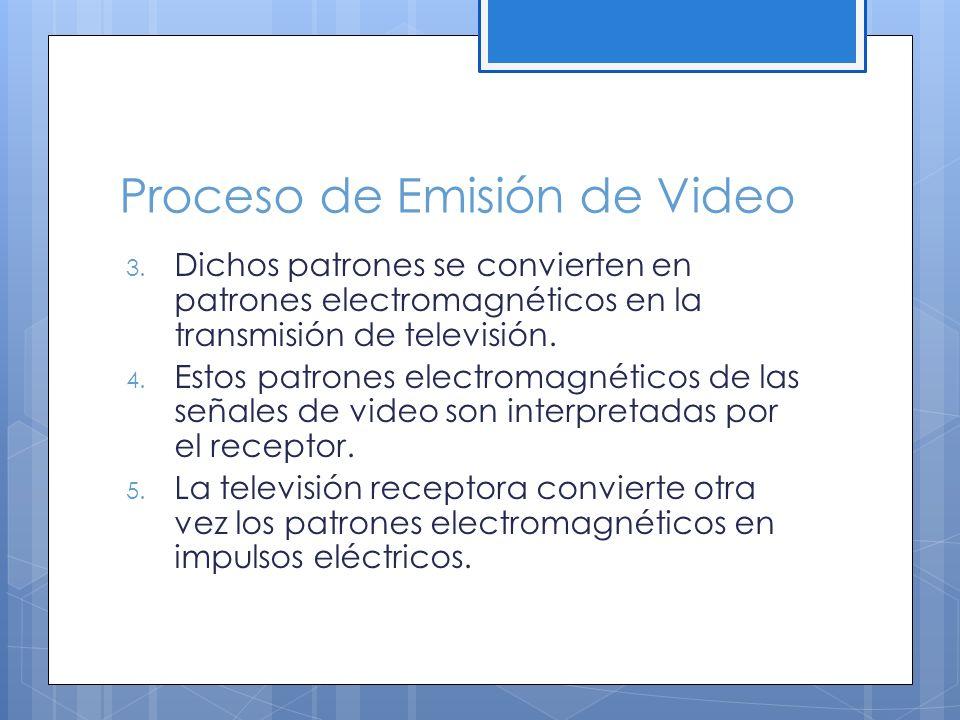 Proceso de Emisión de Video 3.