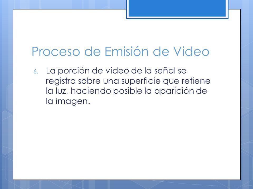 Proceso de Emisión de Video 6.