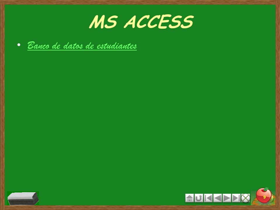 MS ACCESS Banco de datos de estudiantes 9