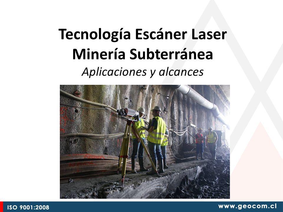 Introducción Con Tecnología de Escáner Laser en proyectos de Minería Subterránea, es posible levantar, administrar, procesar y analizar información capturada de millones de puntos, lo que permite producir resultados diversos, de muy alta calidad y a una alta velocidad, aumentando la seguridad de los profesionales.